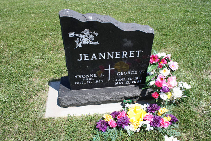 George F. Jeanneret Grave Photo